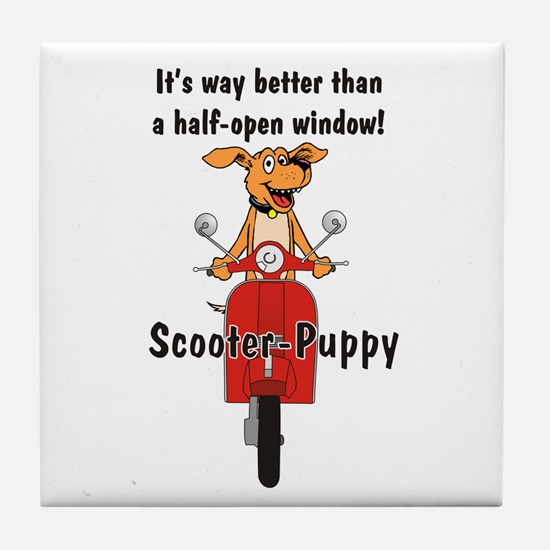 Scooter-Puppy Tile Coaster