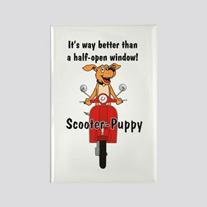 Scooter-Puppy Rectangle Magnet