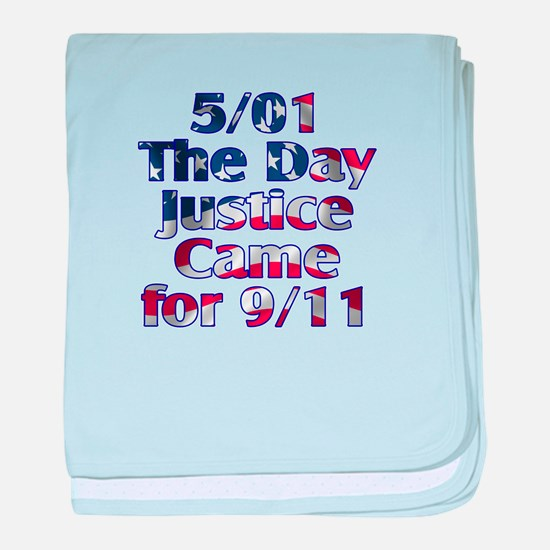 5/01 Justice for 9/11 baby blanket