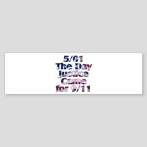 5/01 Justice for 9/11 Sticker (Bumper)