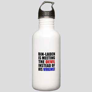 Obama is Meeting the Devil Stainless Water Bottle