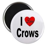 I Love Crows Magnet