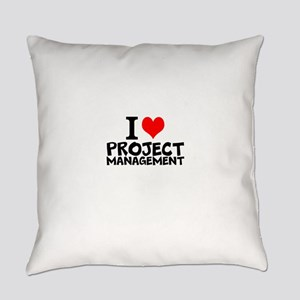 I Love Project Management Everyday Pillow