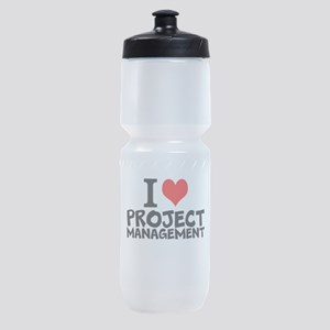 I Love Project Management Sports Bottle