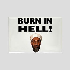 Burn in Hell Osama Rectangle Magnet