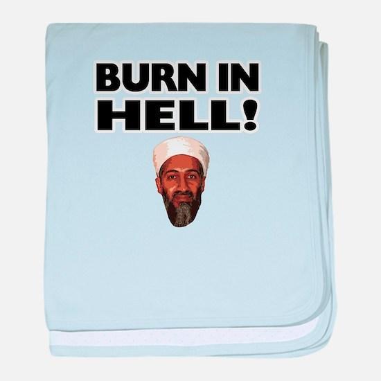 Burn in Hell Osama baby blanket