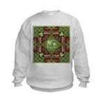 Celtic Dragon Labyrinth Kids Sweatshirt