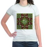 Celtic Dragon Labyrinth Jr. Ringer T-Shirt