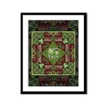 Celtic Dragon Labyrinth Framed Panel Print