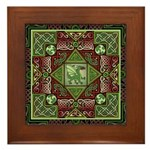 Celtic Dragon Labyrinth Framed Tile