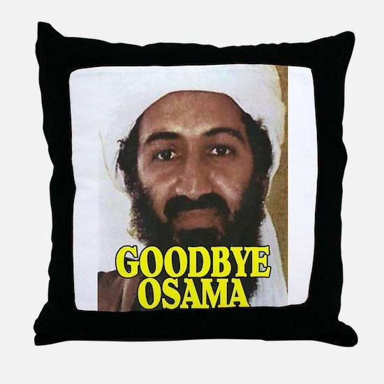GOODBYE OSAMA Throw Pillow