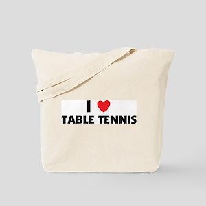 I Love Table Tennis Tote Bag
