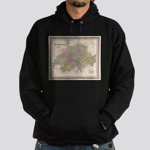 Vintage Map of Switzerland (1853) Sweatshirt