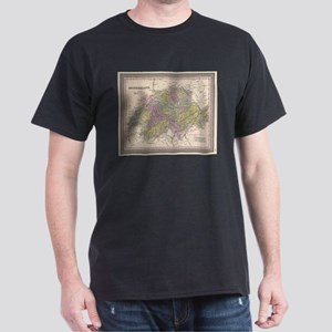 Vintage Map of Switzerland (1853) T-Shirt