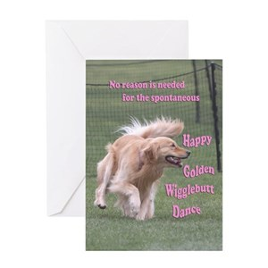 Golden Retriever Greeting Cards Cafepress