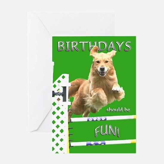 Golden Retriever Birthday Card 'Fun'