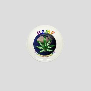Hemp Planet Mini Button
