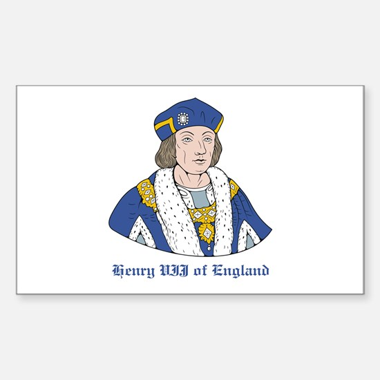 King Henry VII Rectangle Decal
