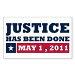 Justice Has Been Done Sticker (Rectangle 50 pk)
