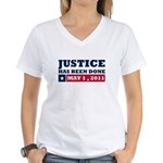 Justice Has Been Done Women's V-Neck T-Shirt