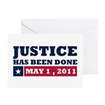 Justice Has Been Done Greeting Cards (Pk of 10)