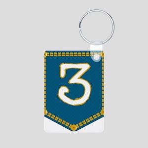 Number 3 Pocket Keychains