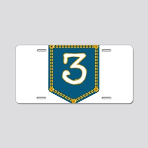 Number 3 Pocket Aluminum License Plate