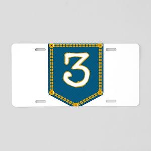 Number 3 Pocket Aluminum License Plate