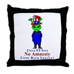 Come Back Legally Throw Pillow