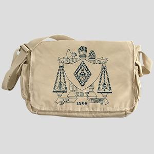 Zeta Beta Tau Fraternity Crest in Bl Messenger Bag