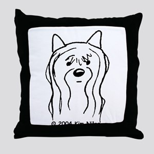Doodlebug Yorkie Throw Pillow