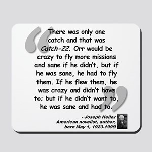 Heller Catch-22 Quote Mousepad
