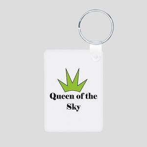 """""""Queen of Sky"""" Aluminum Photo Keychain"""