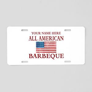 All American BBQ Aluminum License Plate