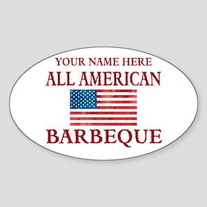 All American BBQ Sticker