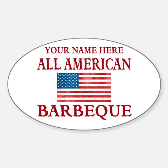 All American BBQ Decal