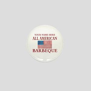 All American BBQ Mini Button