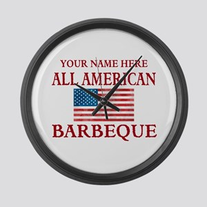 All American BBQ Large Wall Clock
