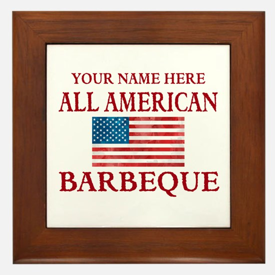 All American BBQ Framed Tile