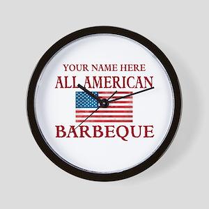 All American BBQ Wall Clock
