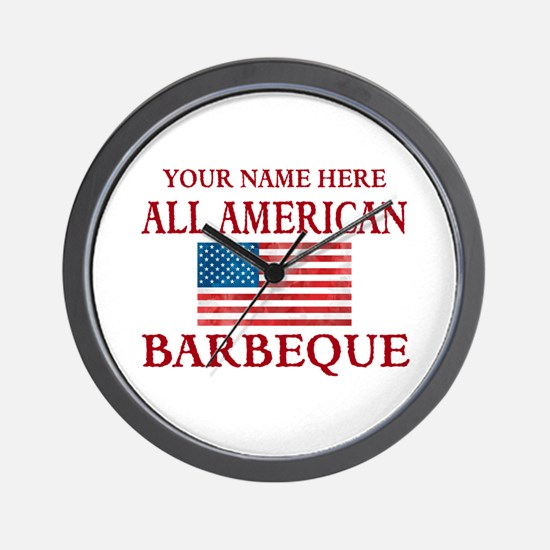 All American BBQ Wall Clock