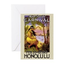 'Mid-Pacific Carnival' Greeting Cards (Package of
