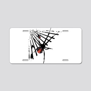 Redback Spider in Web Aluminum License Plate