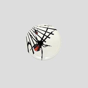 Redback Spider in Web Mini Button