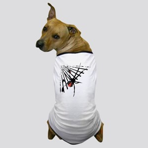 Redback Spider in Web Dog T-Shirt