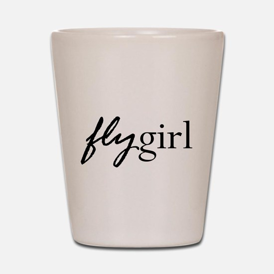 Fly Girl Shot Glass