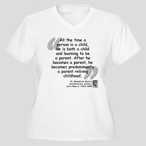 Spock Parent Quote Women's Plus Size V-Neck T-Shir