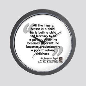 Spock Parent Quote Wall Clock