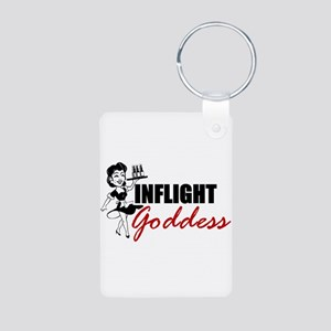 Inflight Goddess Aluminum Photo Keychain