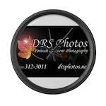 drs photos logo 2017 yard sign Large Wall Clock